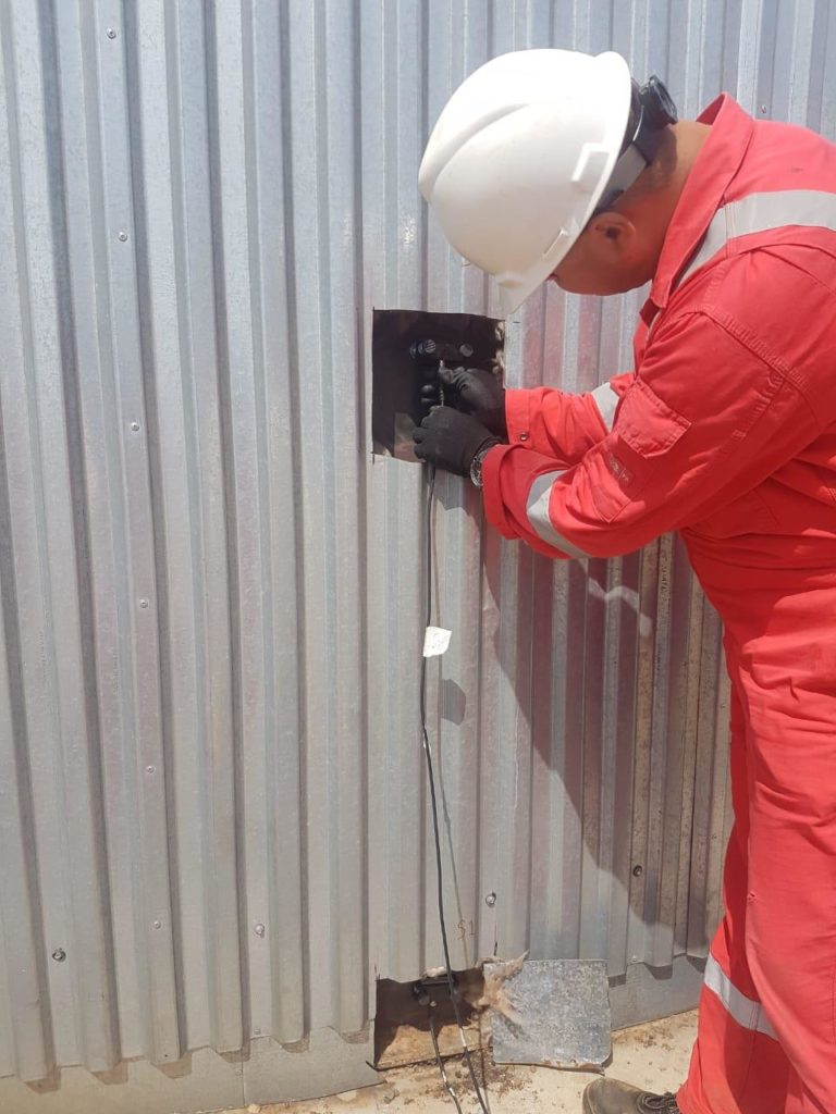 acoustic emission engineer performing inspection